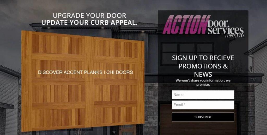 Action Door Services' Homepage
