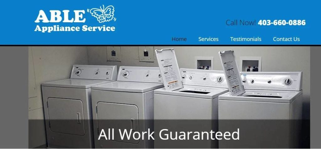 Able Appliances' Homepage