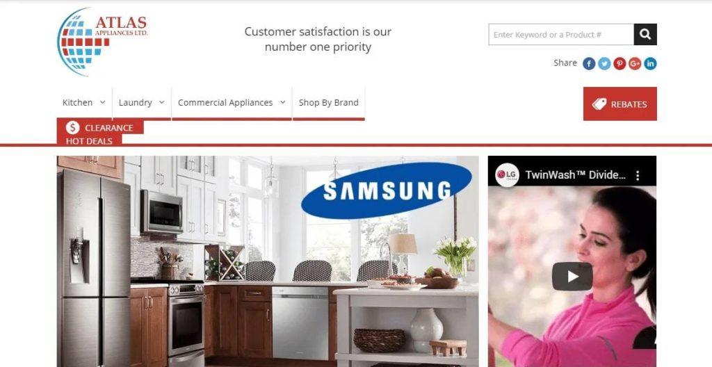 Atlas Appliances Ltd's Homepage