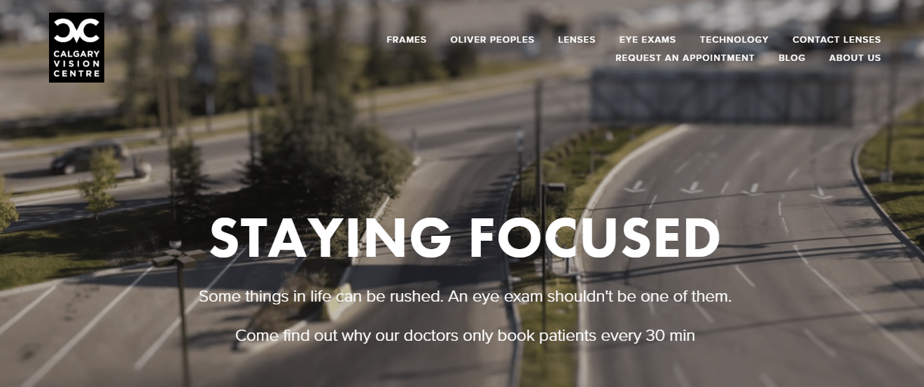 Calgary Vision Centre's Homepage