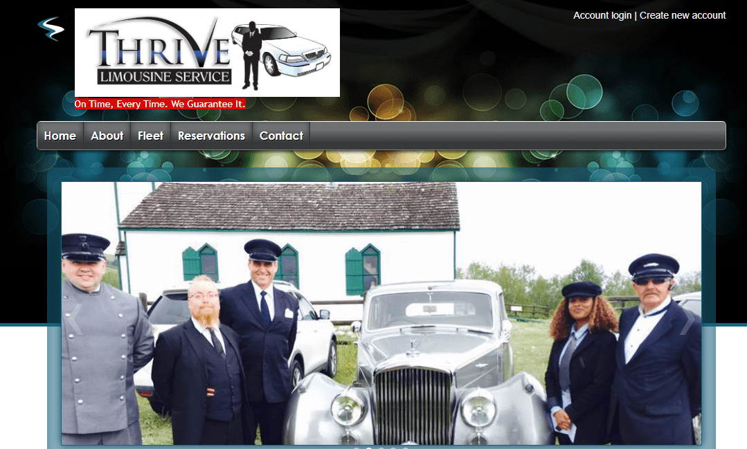 Thrive Limousine Services' Homepage