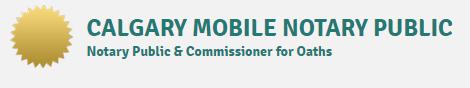 Calgary Mobile Notary Public's Logo