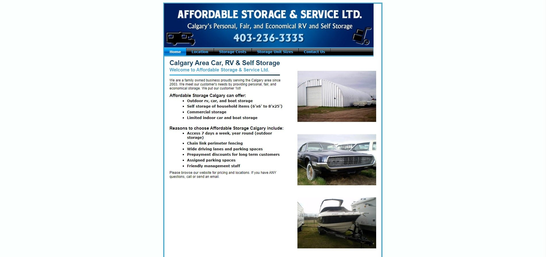Affordable Storage's Homepage