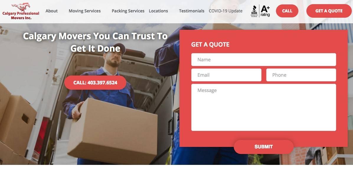 Calgary Professional Movers Inc.'s Homepage