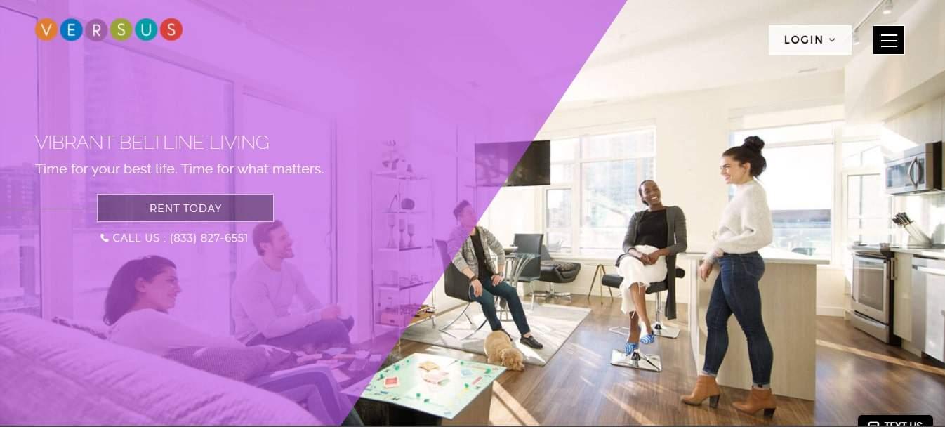 VERSUS Living's Homepage