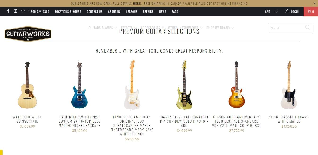 Guitarworks Inc.'s Homepage