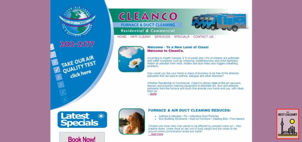 Cleanco Furnace Cleaning's Homepage