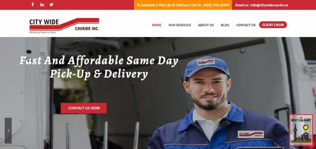 City Wide Courier Inc.'s Homepage